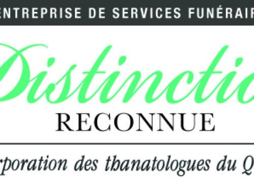 La résidence funéraire Marie-Soleil Phaneuf honorée d'une distinction de la CTQ